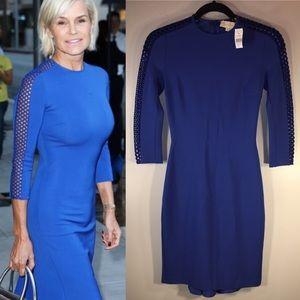 NEW Stella McCartney Royal Blue Bird Dress Size 0
